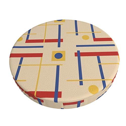 Decams Modischer runder Barhocker-Kissenbezug, ein Andenken an Bauhaus-Kreise, Illusionen, Barhocker-Bezug, Sitzkissen, Schonbezüge für Küche, Bar, Büro, Esszimmer