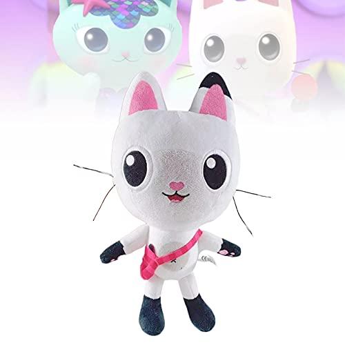 1 2 piezas de felpa de gato de casa de muñecas de Gabby de 10,2 pulgadas, muñeco de Pandy Paws, peluche de Cakey para niñas, niños, regalos para amantes del anime (1 piezas)
