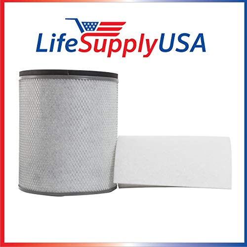 Lowest Prices! LifeSupplyUSA 2 Pack Replacement HEPA Filter Compatible with Austin Air FR200 FR250 H...