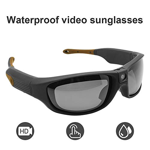 Sports Sunglasses Video Recorder Waterproof IP55 1080P HD Camera Glasses DVR Recording Hands Free 90 Minutes Ultra Long Battery Life