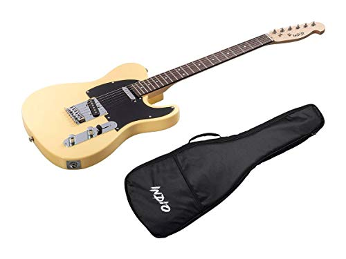 Monoprice Indio Series 6 String Basswood-Body Electric Guitar, Ambidextrous, Blonde (610261)