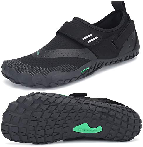 SAGUARO Trail-Laufschuhe für Männer Frauen Leicht Barfußschuhe Unisex Erwachsene Wassersportschuhe Quick Dry Wandern Schuhe rutschfest Barfussschuhe Verschleißfest Aquaschuhe Outdoor, Schwarz 39