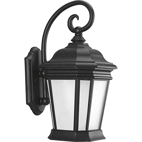 Progress Lighting P5686-31 Traditional One Light Wall Lantern from Crawford Collection in Black Finish