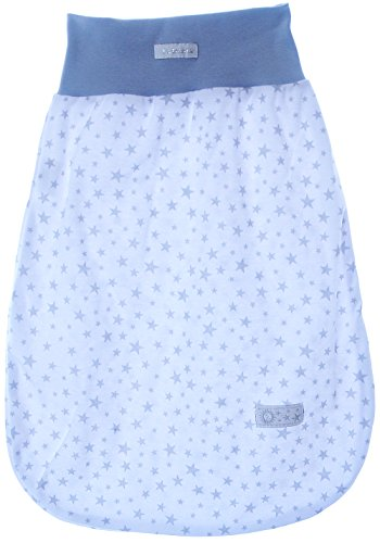 Baby Schlafsack Babyschlafsack ohne Ärmel Weiß mit Sterne Sommerlich Leicht Einlagig!!! (0-6M. (45cm.))