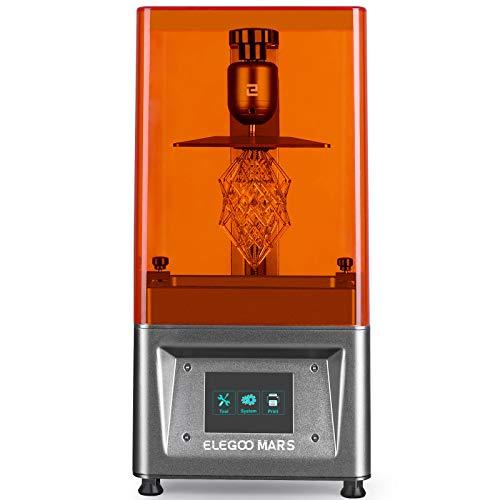 ELEGOO Stampante 3D LCD per Fotopolimerizzante MARS UV con Schermo a Colori Smart Touch da 3,5' Stampa Offline 3D Pinter Dimensione di stampa 11.56cm (L) x 6.5cm(W) x 15cm(H)- Argento
