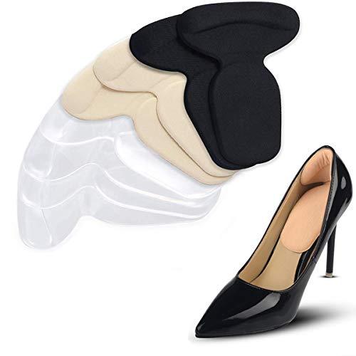 4 Pares T-forma Plantillas Silicona Gel Almohadillas, Mnioky Talonera para Protectores de Talón para Zapatos Planospara Mujeres Como para Hombres