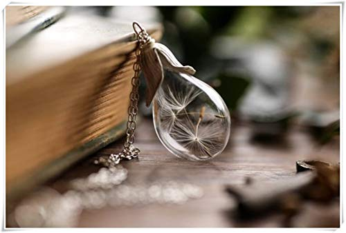 Dandelion Sterling Silver Necklace, Make a Wish, Bridal Jewellery, Terrarium Pendant Necklace