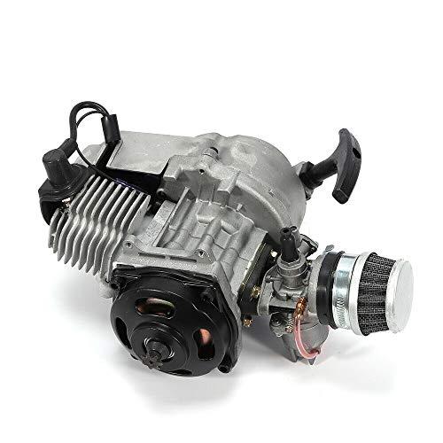 TBVECHI 49CC Mini Motorcycle Engine, 2-Stroke Pull Start Engine Motor Unit for 47CC/49CC Pocket ATV Pit Mini Bike