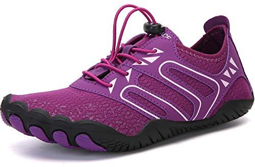 Sixspace Unisex Zapatos de Agua Deportes Acuáticos Calzado de Natación Escarpines Hombre Mujer para Buceo Snorkel Surf Piscina Playa Vela Mar Río Aqua Cycling(púrpura,40 EU)