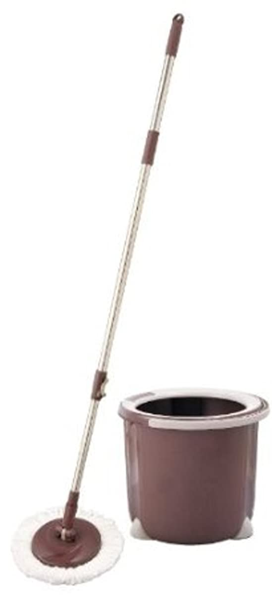 演劇宿命灌漑アズマ 回転モップ トルネード丸型セット 拭き幅26cm ブラウン 一層式洗浄 TSM545