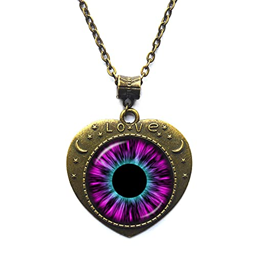 Collar de ojo de gato, colgante de ojo, imagen de joyería para mujeres, joyería de mascotas, regalo de esposa, amigo, regalo de gato, colgante de animales amantes de la naturaleza gato colgante-JV379