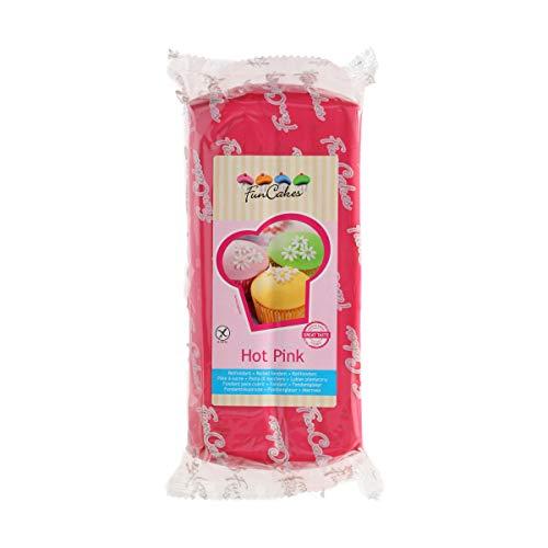 FunCakes Fondant Rosa Intenso: Fácil de Usar, Suave, Flexible, Suave y Flexible, Perfecto para Decorar Pasteles, Halal,...