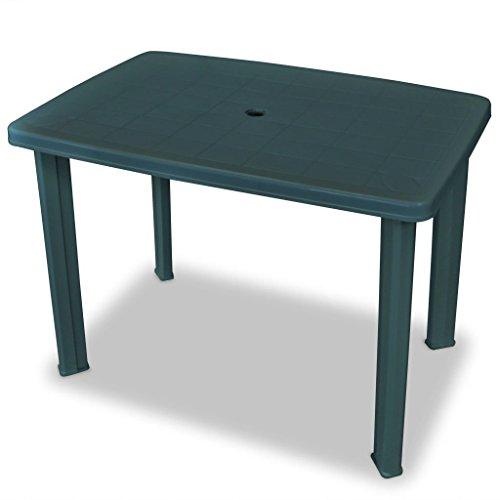 Festnight Table de Jardin en Plastique 101 x 68 x 72 cm Vert