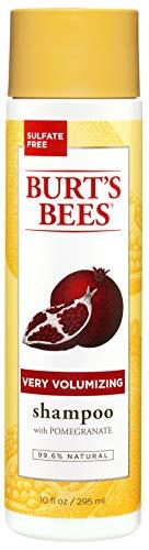 Burt's Bees Very Volumizing Pomegranate Shampoo, Sulfate-Free Shampoo - 10 Ounce Bottle