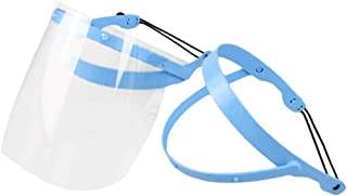 Healifty Dental Full Face Shield Mouth Sanitation Adjustable Mask with 10 Protective Film