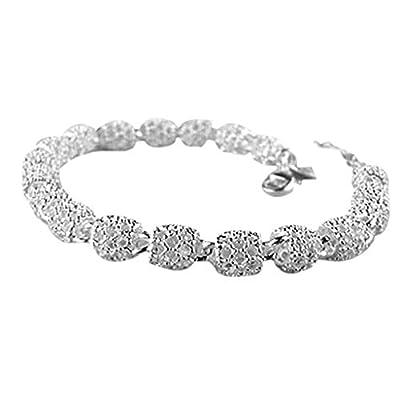 Lisingtool Lady Elegant Bangle Wristband Bracelet Crystal Cuff Bling Gift