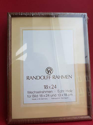 Randolff Natur-Holz-Rahmen holzfarben dunkel 18x24 (13x18 mit Passepartout)