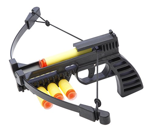 NXT GENERATION Black Crossbow Pistol - Light, Compact, and Accurate, Archery and Pistol Target Practice - Practice Play for Kids - Incl 3 Safe Foam Suction Cup Dart Projectiles and Built in Quiver