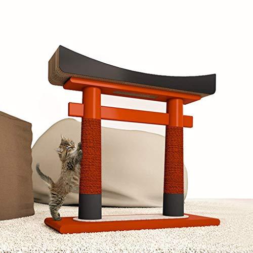WYJW Japanischer Torii Massivholz-Katzenkletterrahmen, japanischer Animations-Cartoon und Wind-Katzenspielzeug Sisal-Katzenkratzbaum Verschleißfest und Kratzfest