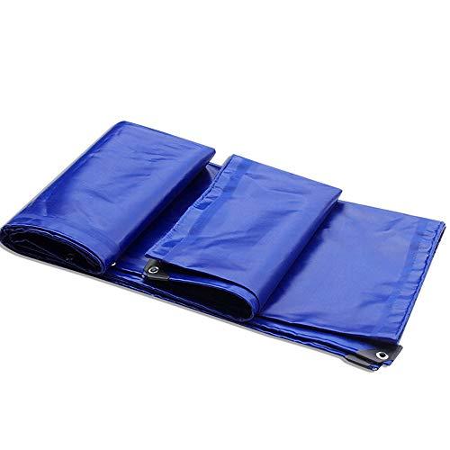 Dik waterdicht dekzeil, PVC gelijmd, dikke, anti-slip wind voor tent camping | Hangmat | Zwembad | Tuin | Auto | Motorfiets | Ship's Cover - Sky Blue 3x4m
