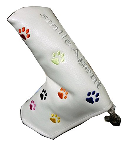 肉球刺繍ゴルフパターカバー ピンタイプ マグネットタイプ