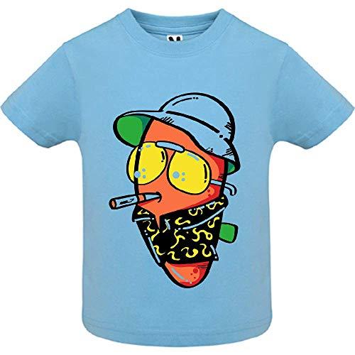 LookMyKase T-Shirt - The Guy - Bébé Garçon - Bleu - 12mois