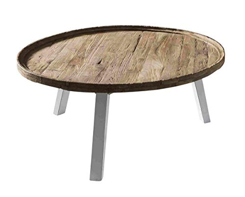 SIT-Möbel Romanteaka Table Basse en Teck et chêne Naturel 90 x 90 x 42 cm