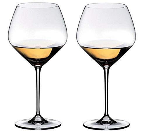Riedel Heart to Heart Chardonnay Glasses, Set of 2, Clear, 23-5/8-oz -