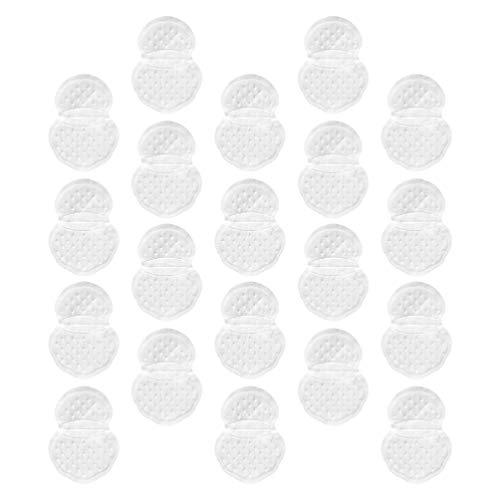 EXCEART 20 Hojas Almohadillas de Sudor para Axilas para Mujeres Y Hombres Lucha Hiperhidrosis Adhesivo Invisible Axila Ropa Pegatinas de Protección