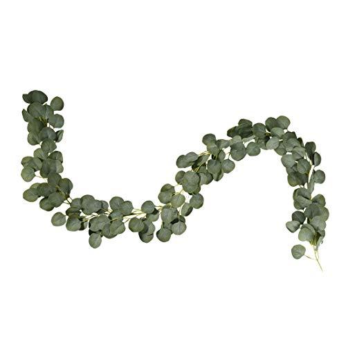 StarLifey künstliche Blätter Girlande Faux Silberdollar Eukalyptus Grün Kranz handgemachte Reben für Hochzeit Bogen Blumenarrangement Hausgarten Party Dekor