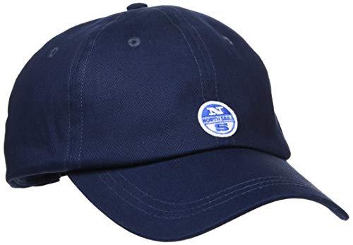 NORTH SAILS Herren Baseball Kappe in Navy Blau Baumwolle Mit Verstellbarer Hinterer Schnalle - Logo Applikation auf Der Vorderseite - Eine Größe