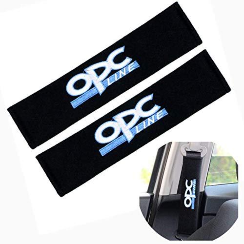 WYJBD 2ST Gurtpolster mit Auto-Marken-Logo-Schulter-Sicherheitsgurt-Abdeckung Sicherheit for Opel OPC Astra G H J Corsa D Insignia Mokka Zaf (Color : White)
