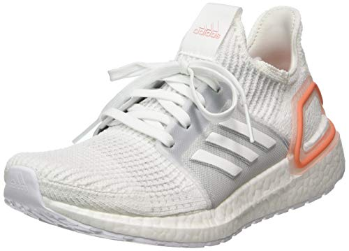 adidas Women's Ultraboost 19 Running Shoe, FTWWHT/GREONE/SEMCOR, 6 UK