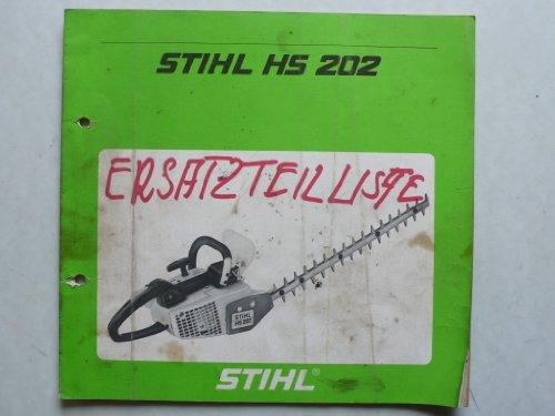 Stihl Heckenschere HS 202 – Betriebsanweisung, Montageanleitung und Ersatzteilliste