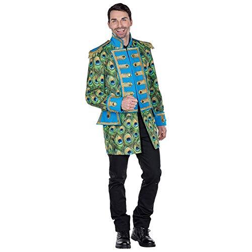 PARTY DISCOUNT® Herren-Kostüm Pfauen Jacke, Gr. 52-54