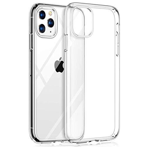 LEONAS iPhone 11 PRO Case Trasparente in Silicone Compatibile con Apple iPhone 11 PRO Case, Ultra Sottile Sottile iPhone Flessibile i-Phone - iPhone 11 PRO Case Cover Cover Clear - Trasparente