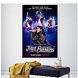 Qqwiter Julie und die Phantome, Netflix, TV-Show, TV-Serie Leinwand Poster Wohnzimmer Wandkunst Poster Leinwanddrucke Home Decoration -50x75cm No Frame