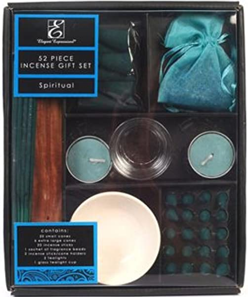 Hosley Aromatherapy Spiritual Scented Gift Pack 52 Pieces Highly Scented Incense Hand Fragranced Infused With Essential Oils Ideal Gift For Wedding Zen Spa Reiki Settings O9