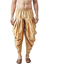 Sojanya (Since 1958), Mens Silk Blend Harem Pant