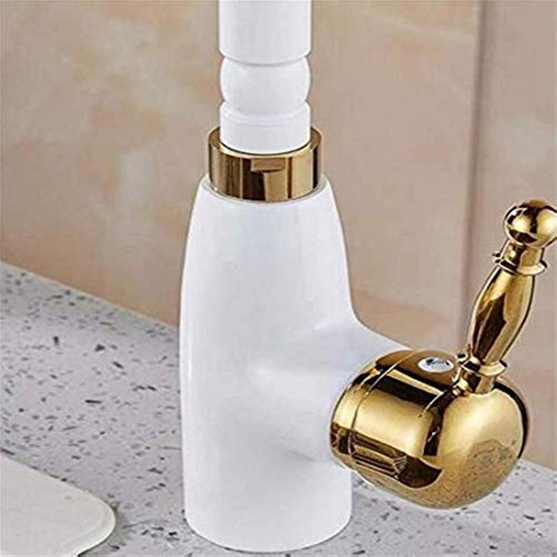 Miscelatore CucinaWeiß Heie und kalte Schwenkauslauf Kitchen Sink Mixer Tap Sink Mixer Sink Wasserhahn Kalter Griff