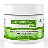Super Greens Complejo en Polvo - Supplements You - 30 deliciosas porciones bebida en polvo frutas orgánicas y vegetales – superalimento diario para mejorar inmunidad y aumentar niveles de energía