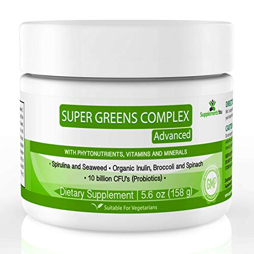 Super Grüne Puder Formel - Supplements You - 30 Portionen gemischtes Getränkepulver mit köstlichen Bio-Obst und Gemüse - um die Immunität zu stärken und maximale Energieniveaus zu fördern.