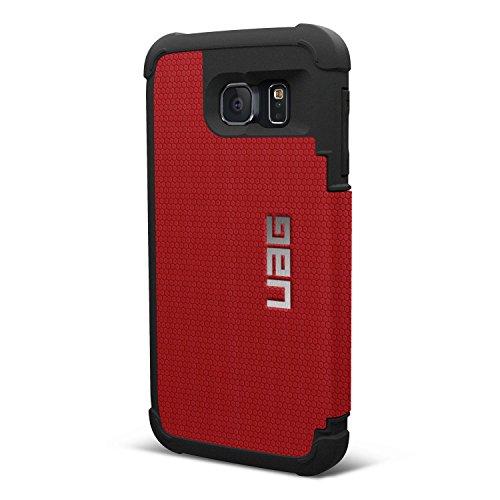 Urban Armor gear - UAG-GLXS6F-RED--VP - Folio-Hülle für Samsung Galaxy S6 - Rot