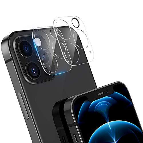 【2枚セット】iPhone 12 pro max カメラフィルム 3D全面保護フィルム カメラ保護ガラス、日本旭硝子素材/99%透過率/硬度9H/指紋防止/ iPhone12pro max レンズ保護フィルム 12 pro max 強化ガラスフィルム