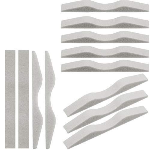 50 Pieces Microfiber Memory Foam Nose Pads Anti-Fog Nose Bridge Pads Self-Adhesive Protection Nose Strip Seal Nose Cushion Sponge Nose Bridge Pads (Gray)