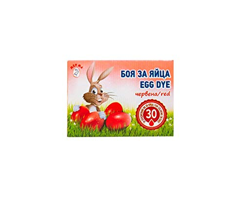 Metma 3 bolsitas de pintura colorante rojo para decoración de arte colorido huevos de Pascua – colores rojo y vino rojo