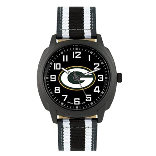 NFL Green Bay Packers Mens Ice Series Wrist Watch, Black, One Size