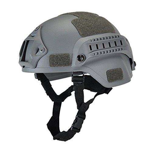 wjieyou Militärischer taktischer Helm, Airsoftausrüstung, Paintball-Kopfschutz mit Nachtsicht, Sport-Kamerahalterung