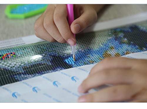 5D-schilderij om zelf te maken, mooie slingers voor water, potentieel, kruissteek, borduurwerk, decoratie voor huis, geschenk, rond, boormachine 50x60cm