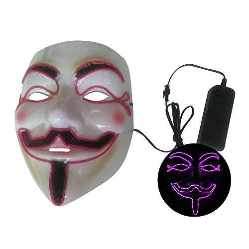 Lixada Halloween Party Masker LED griezelig flash masker EL Line licht masker Cosplay masker Party kleding masker accessoires multicolor optioneel